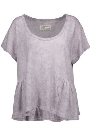 CURRENT/ELLIOTT The Girlie marled linen and cotton-blend T-shirt