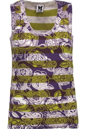 M MISSONI Printed stretch-cotton top