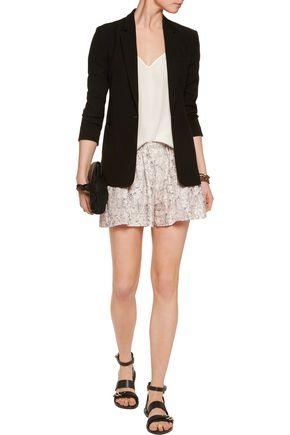 RAG & BONE Holten printed silk crepe de chine shorts