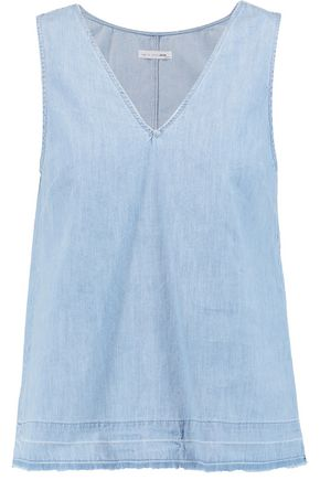 RAG & BONE Washed-denim tank