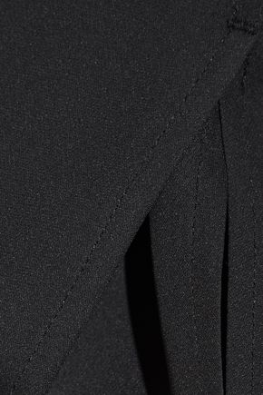 RAG & BONE Romy knit-trimmed silk crepe de chine top