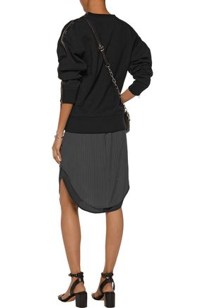 RAG & BONE Layered mesh and jersey sweatshirt