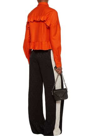 MSGM Ruffled wool-felt top