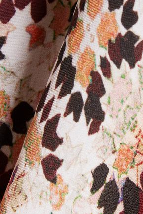 L'AGENCE Soleil printed silk crepe de chine blouse