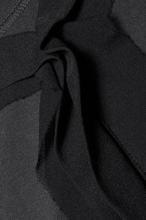3.1 PHILLIP LIM Silk-trimmed cotton-jersey tank