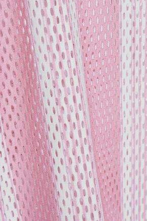 ACNE STUDIOS Jackie striped laser-cut crepe top