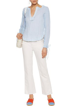 SEE BY CHLOÉ Crinkled cotton-blend top