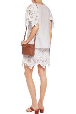 SEE BY CHLOÉ Macramé lace-paneled cotton-voile top