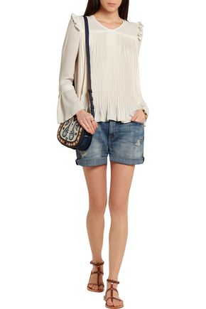 SEE BY CHLOÉ Pleated crepe de chine blouse