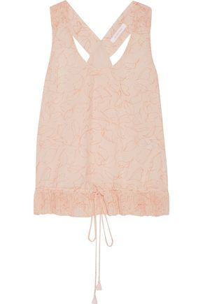 SEE BY CHLOÉ Pleated printed chiffon top