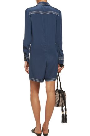 SEE BY CHLOÉ Silk crepe de chine playsuit