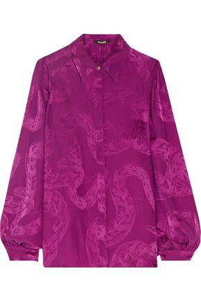 ROBERTO CAVALLI Silk-jacquard blouse