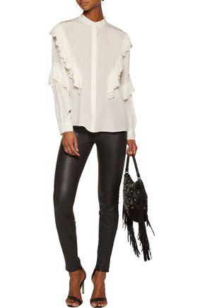 ROBERTO CAVALLI Ruffled silk blouse