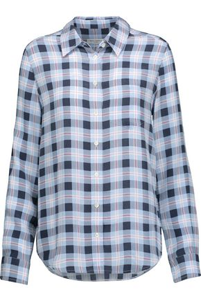 EQUIPMENT Brett plaid washed-silk shirt