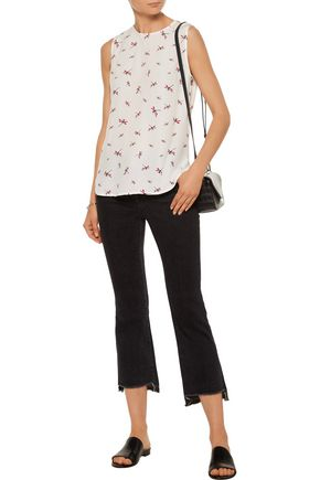 EQUIPMENT Lyle printed washed-silk tank