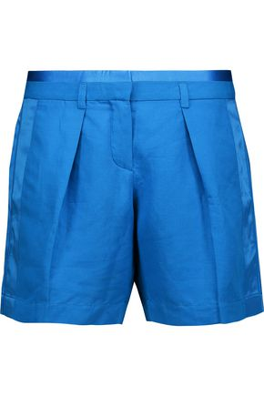 ROBERTO CAVALLI Flax-blend shorts