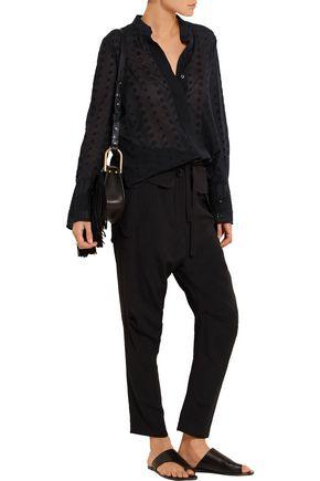 CHLOÉ Broderie anglaise cotton-voile blouse