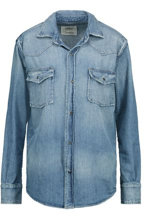 CURRENT/ELLIOTT Faded denim shirt