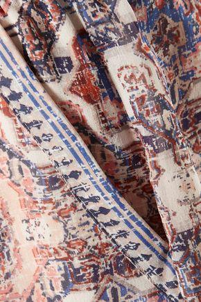 JOIE Nami printed silk crepe de chine shorts