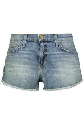 CURRENT/ELLIOTT The Gam frayed denim shorts