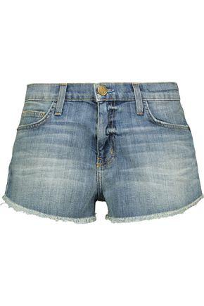 CURRENT/ELLIOTT The Gam frayed denim shorts