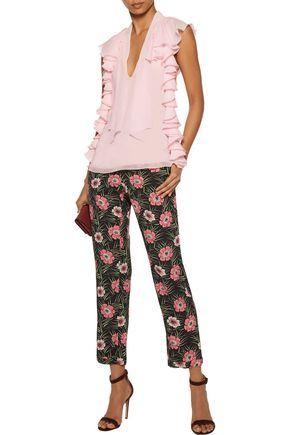 GIAMBATTISTA VALLI Ruffled silk-chiffon blouse