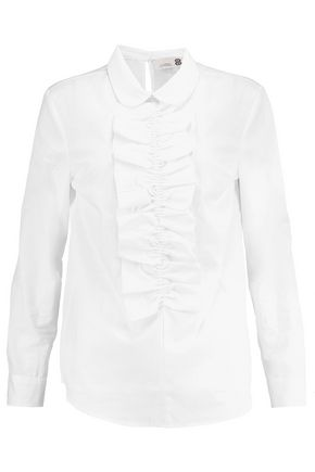 8 Ruffle-trimmed cotton shirt