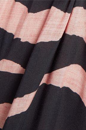 VIX Lanai Michele paneled printed voile coverup