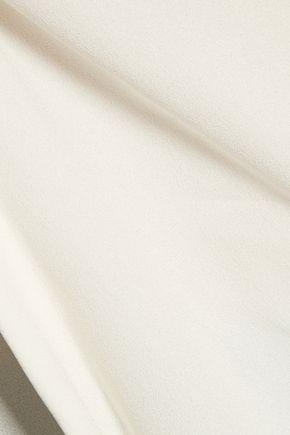 BELSTAFF Grafton ribbed satin-paneled crepe top