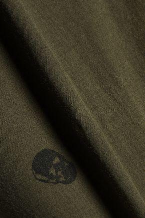 RTA Jewel distressed printed cotton-jersey top
