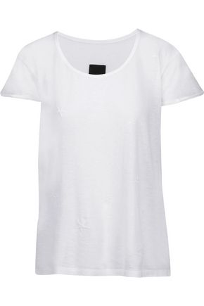 RTA Jewel embroidered cotton and cashmere-blend T-shirt