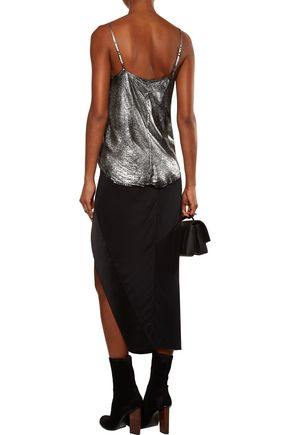 RTA Lilian metallic silk top