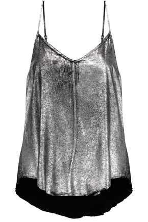 RTA Lilian metallic silk top