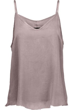 RTA Lilian layered washed-silk camisole