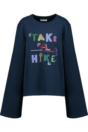 OPENING CEREMONY Take A Hike embroidered French cotton-terry sweatshirt