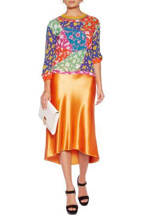 MISSONI Frayed floral-print silk-blend blouse