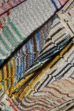 MISSONI Metallic crochet-knit shorts