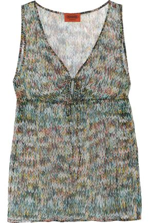 MISSONI Printed silk-chiffon top