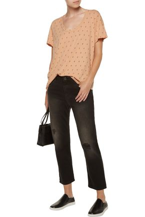 CURRENT/ELLIOTT The Slouchy printed cotton-jersey T-shirt
