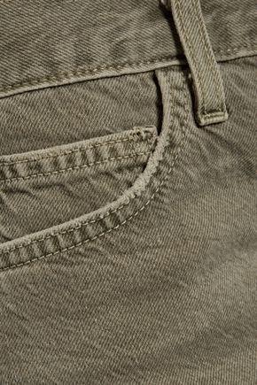 CURRENT/ELLIOTT The Boyfriend frayed denim shorts