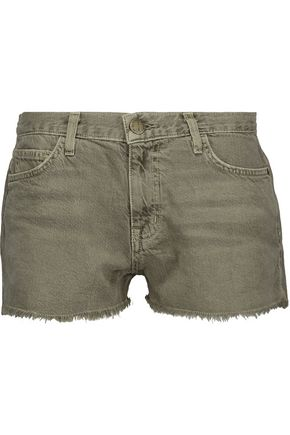 CURRENT/ELLIOTT The Boyfriend frayed denim shorts