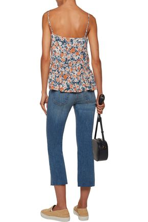 CURRENT/ELLIOTT The Strappy floral-print gauze top
