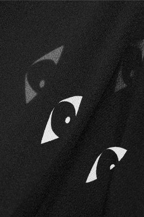 KENZO Printed silk-chiffon coverup