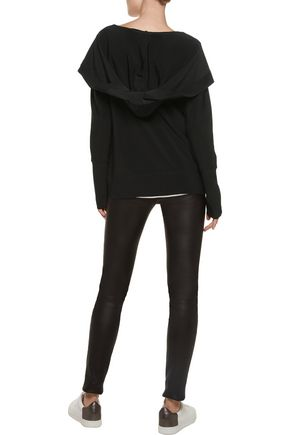 NORMA KAMALI Stretch-jersey hooded sweater