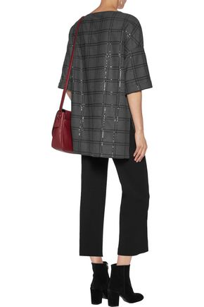 BRUNELLO CUCINELLI Oversized sequin-embellished wool-blend top