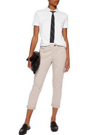 BRUNELLO CUCINELLI Tie-front cotton-jersey T-shirt