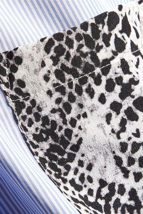 EQUIPMENT FEMME Leema striped cotton-poplin shirt