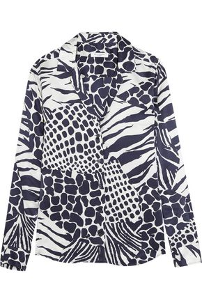 EQUIPMENT Adalyn animal-print washed-silk shirt