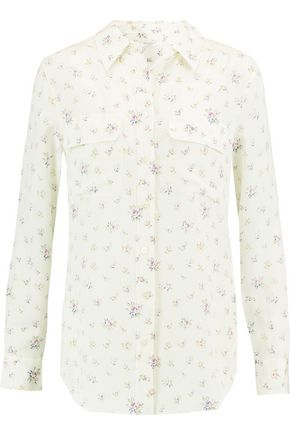 EQUIPMENT Slim Signature floral-print washed-silk shirt