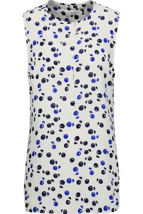 EQUIPMENT Carina printed washed-silk top